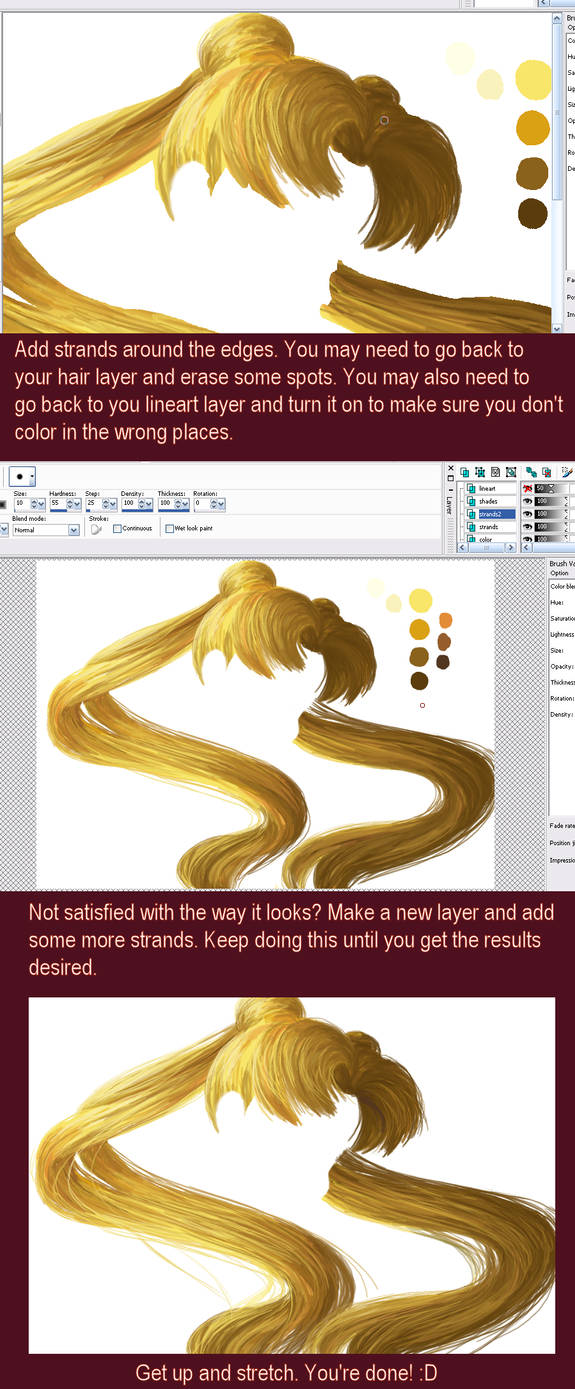 Hair coloring tutorial Part 3 by smashsweetie on DeviantArt