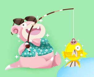 Shiny Poke-fishing! by sebastianpizarro