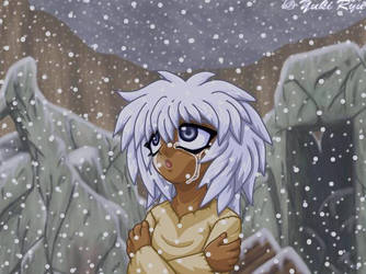 Sad Bakura In Snow by KingofTheivesClub