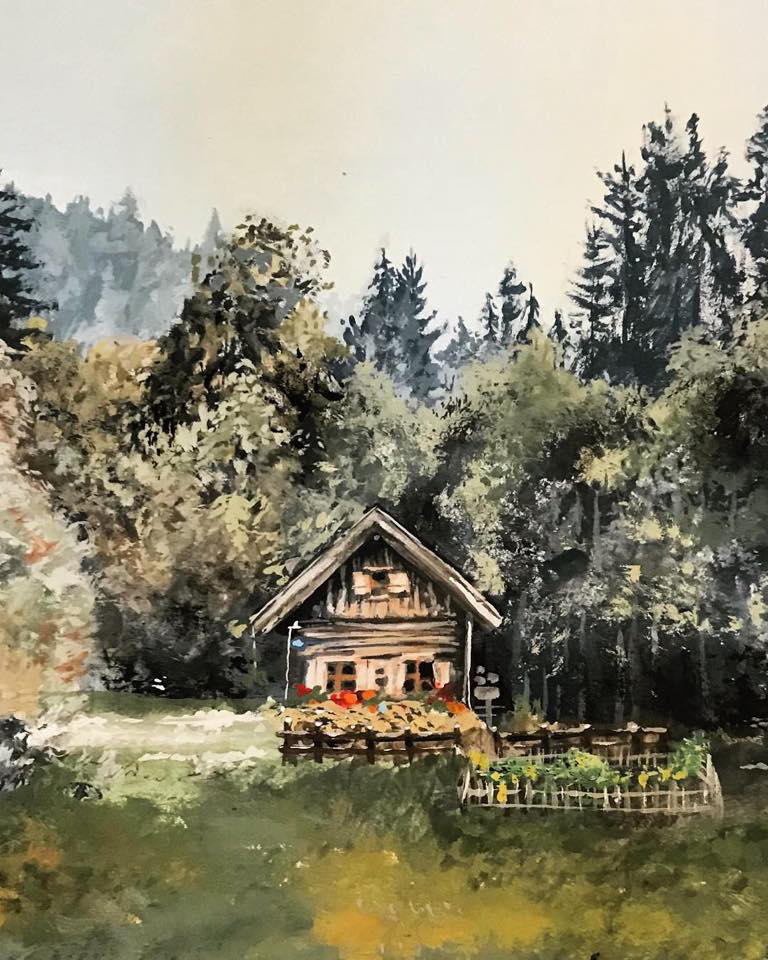 Cabin in the Woods by KristynJanelle