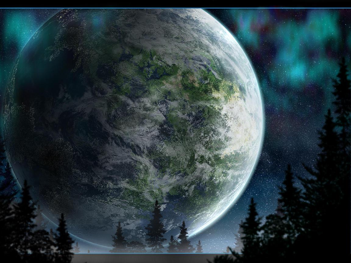 Starlit night version 2 by Bareck