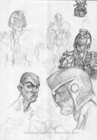 Dredd sketches by SuminskyArtwork