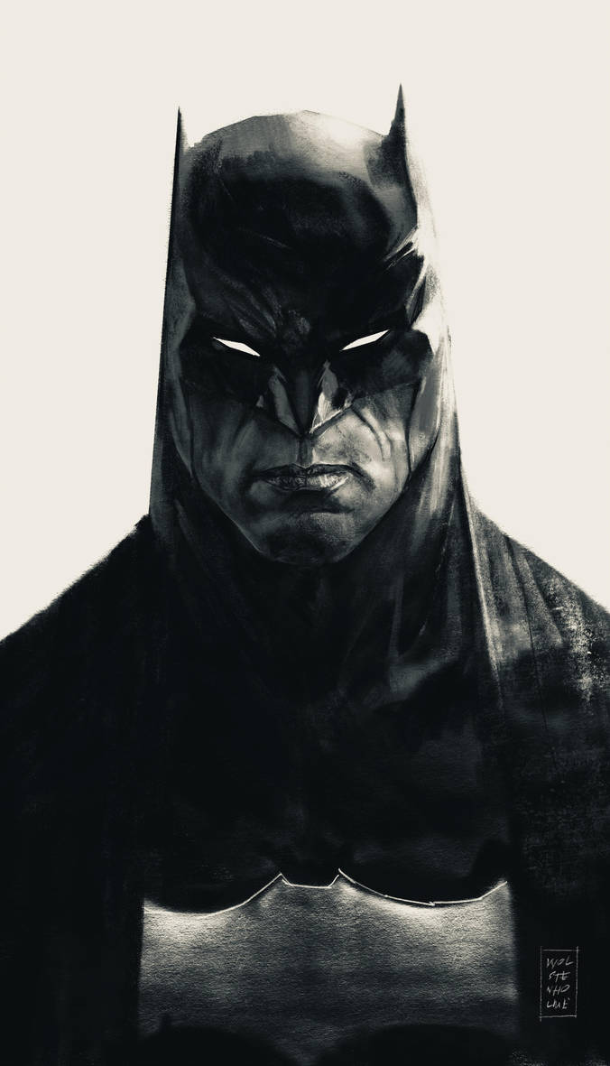 Batman Head DA by BenWolstenholme