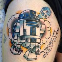R2D2 Tattoo by gooneytoonstattoo