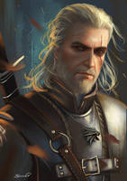 Geralt of Rivia Witcher 3 by Sicarius8