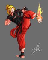 Ken (Street Fighter V) by DHK88