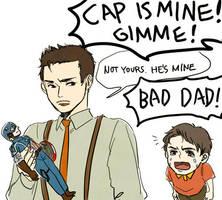 Papa Howard and Kid Tony by takec