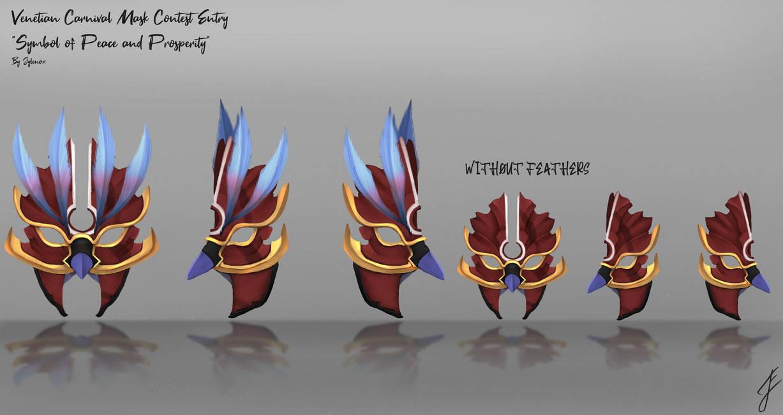 Warframe - Venetian Carnival Mask by JyleART