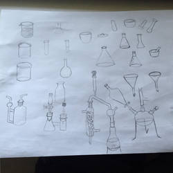Drawing Practice Chemistry Ware 1 by EQ7-2521