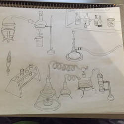 Drawing Practice Chemistry Ware 2 by EQ7-2521