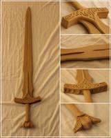 Unpainted Skyrim Steel Sword by Bayr-Arms