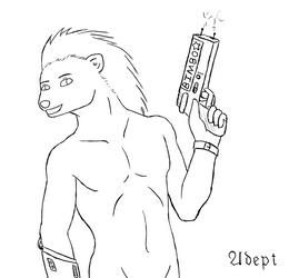 Frostbyte Sketch Commission by AdeptOmega