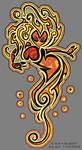 T-shirt Design Fire Lady by RougeSpark