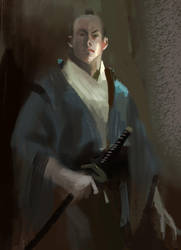 a samurai by fish-walker