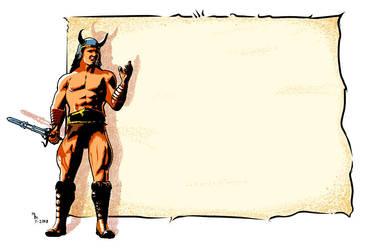 Conan Mailing Label by mmitchellhouston