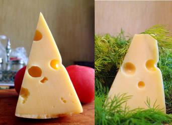 kawaii cheese by Magen-ta