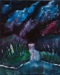 Moody Waterfall by kuopansetae