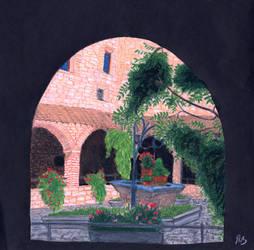 Italian memories: Monastery by BeatryczeNowicka
