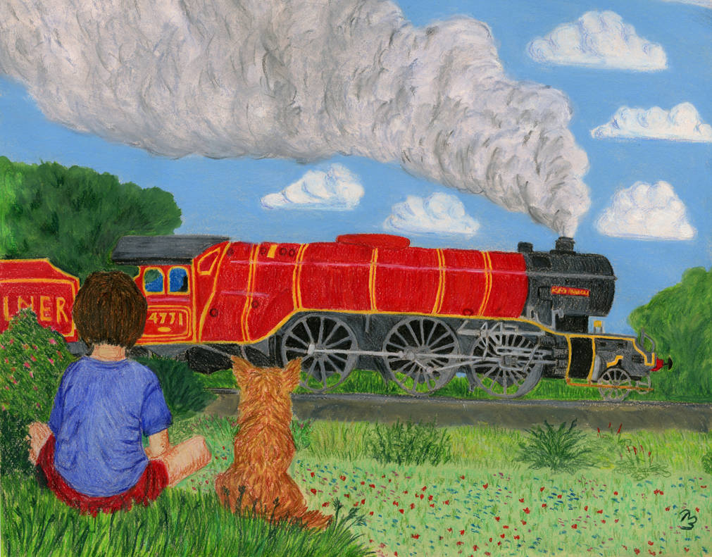 The boy who watched trains. For John by BeatryczeNowicka