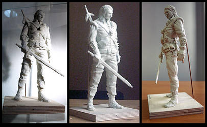 The Witcher Clay Sculpture II by art-anti-de