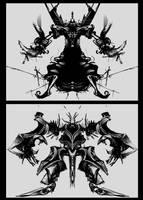 Djinn vs. Mech by art-anti-de