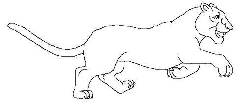 big cat free line art by MoonString