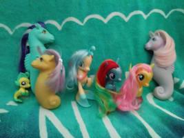 Sea and Mer Ponies by LittleKunai