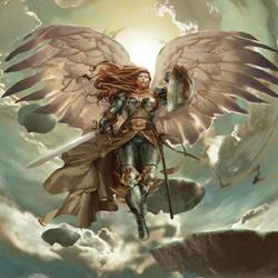 Magic the Gathering Tactics online - Serra Angel by Kaiz0