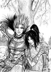 Gan Ning and Ling Tong by Autumn-Sacura
