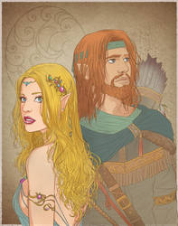 Laurana and Tanis by Autumn-Sacura