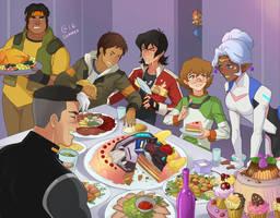 Voltron: Legedary defender - cake by Autumn-Sacura