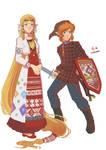 Udmurt Zelda and Link by Autumn-Sacura