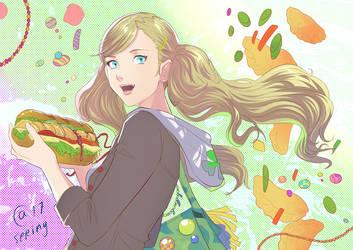Ann and  dumpling sandwich by Autumn-Sacura