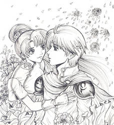 Lyn and Eliwood - Fire Emblem by Autumn-Sacura