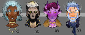 Halloween Bust Adopts (OPEN 2/4) by Lone--Dragon