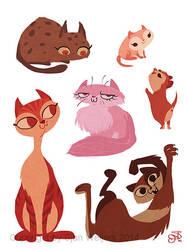 Cats by SjanWeijers