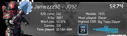 Jamezzz92 Halo 4 Gamer Card by Jamezzz92