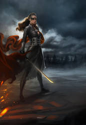 To War: Commander Lexa by PapurrCat