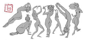 gesture drawing by TBchoi