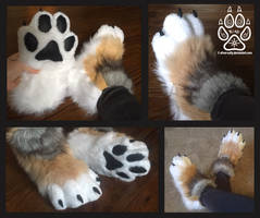 Wild Canine Paw Slippers / Sock Paws by Silver-Sundog