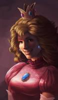 Princess Peach by CarolineLaplante