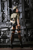 Steampunk Military Inspired Ensemble by Alice-Corsets