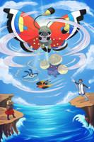 Linked XY - Sky Battle by jadethestone