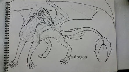 Dragoness outlines by ma-dragon