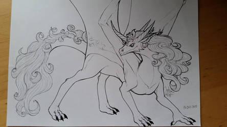 Powerful Dragoness by ma-dragon