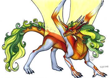 Powerful Dragonqueen by ma-dragon