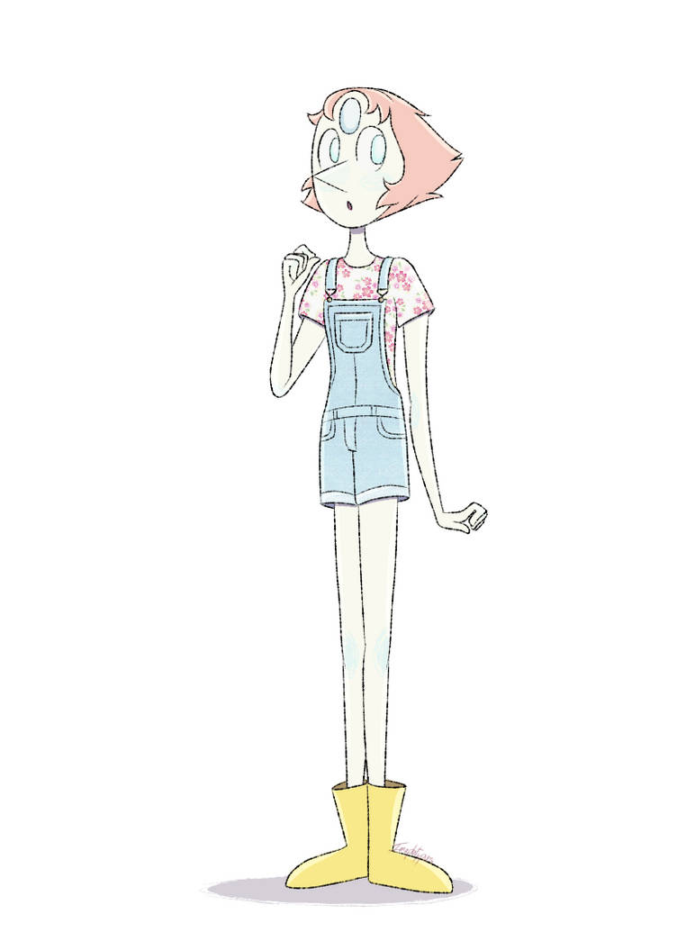 So I had the urge to draw Pearl in overalls. I don't know why. I'm pretty sure I've seen that before too. But I am quite proud of this :3. tumblr: imaplatypus-art.tumblr.com/pos… made o...