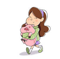 A girl and her pig by Imaplatypus