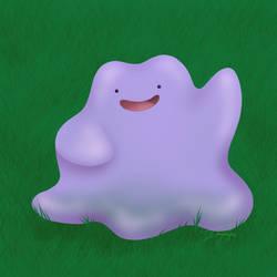 Happy Purple Blob by Imaplatypus