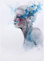 deep blue sigh by agnes-cecile